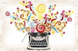 18552403-creatividad--m-quina-de-escribir-con-remolinos-abstractos-y-grunge